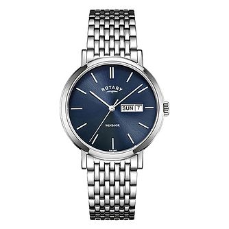 Rotary Windsor Men's Blue Dial Bracelet Watch - Product number 4603818