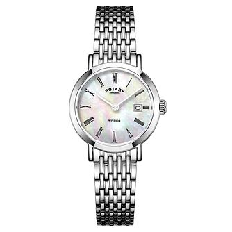 Rotary Windsor Ladies' Mother of Pearl Bracelet Watch - Product number 4603826