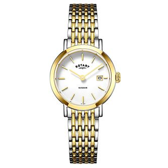 Rotary Windsor Ladies' Two Colour Bracelet Watch - Product number 4603834