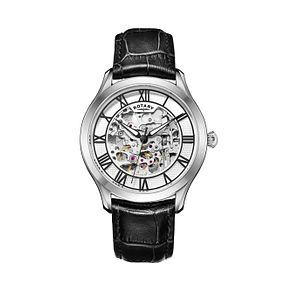 Rotary Men's Black Leather Strap Watch - Product number 4606930