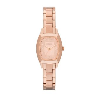 Relic Ladies' Rose Dial Rose Gold-Plated Bracelet Watch - Product number 4608224