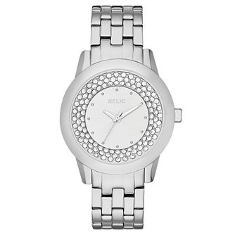 Relic Ladies' Stone Set Stainless Steel Bracelet Watch - Product number 4608232