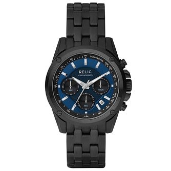 Relic Men's Chronograph Black Ion-Plated Bracelet Watch - Product number 4608658