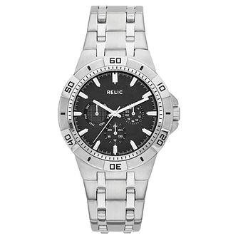 Relic Men's Black Dial Stainless Steel Bracelet Watch - Product number 4608666
