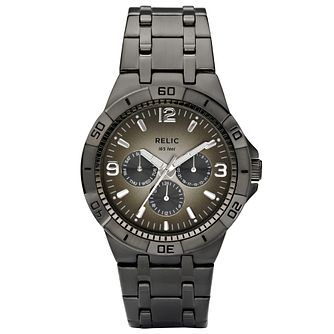Relic Men's Grey Dial Gunmetal Ion-Plated Bracelet Watch - Product number 4608674