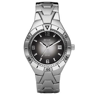 Relic Men's Black Dial Stainless Steel Bracelet Watch - Product number 4608704