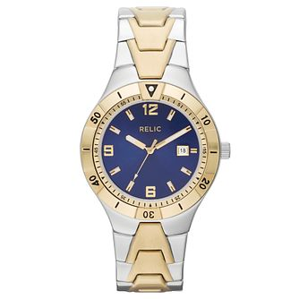Relic Men's Blue Dial Two Colour Bracelet Watch - Product number 4608712