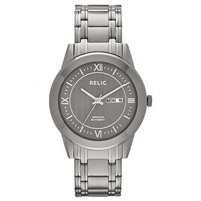 Relic Men's Grey Dial Gunmetal Ion-Plated Bracelet Watch - Product number 4608747
