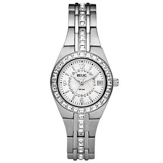 Relic Ladies' Stone Set Stainless Steel Bracelet Watch - Product number 4609255