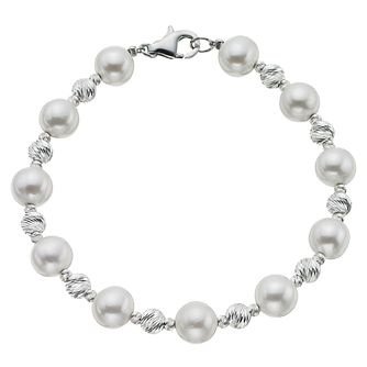 Silver & Cultured Freshwater Pearl Bracelet - Product number 4609271