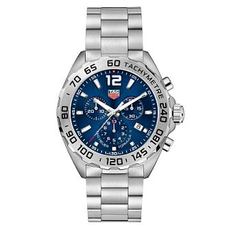 TAG Heuer Aquaracer Men's Blue Chronograph Bracelet Watch - Product number 4611918