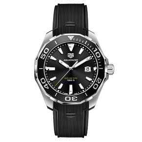 TAG Heuer Aquaracer Men's Black Strap Watch - Product number 4611977