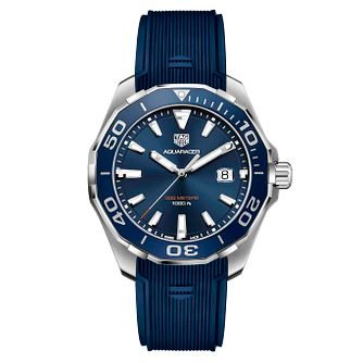 TAG Heuer Aquaracer Men's Stainless Steel Blue Strap Watch - Product number 4611985