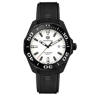 TAG Heuer Aquaracer Men's Black Ion Plated Strap Watch - Product number 4612000