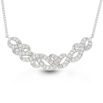 Neil Lane Designs Silver 0.20ct Diamond Swirl Pendant - Product number 4617908