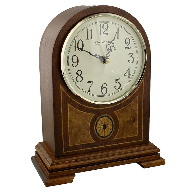 Wooden Arched Top Mantel Clock