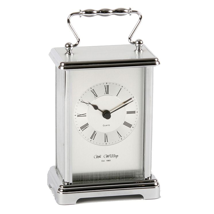 Silver Tone Carriage Clock - Product number 4619048