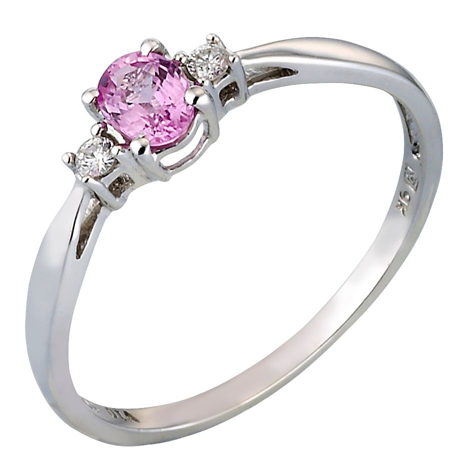 gold gemstone engagement boutique si h ring pink and sapphire diamond paragon white