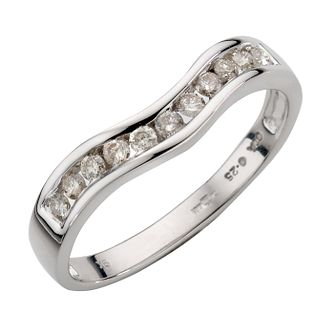 9ct White Gold Quarter Carat Diamond Ring - Product number 4621808