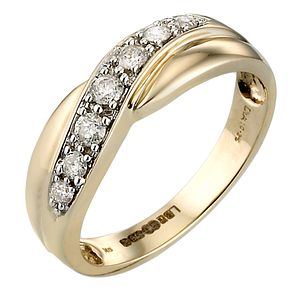 Bride's Gold Diamond Ring - Product number 4622553