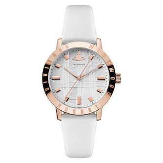Vivienne Westwood Bloomsbury II Ladies' White Strap Watch - Product number 4623355