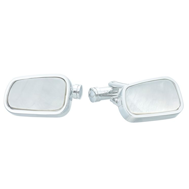 Ted Baker Stainless Steel Mother of Pearl Cufflinks - Product number 4624580