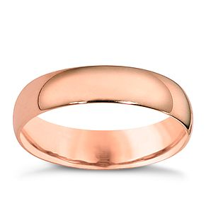 9ct rose gold extra heavy court ring 5mm - Product number 4629892