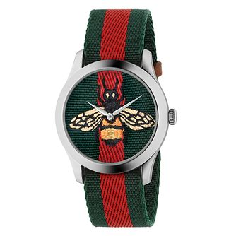 Gucci G-Timeless Ladies' Bee Strap Watch - Product number 4639340