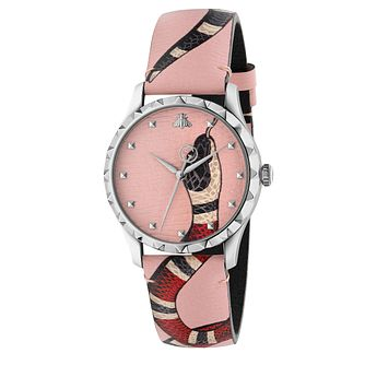 Gucci Ladies' G-Timeless Snake Pink Strap Watch - Product number 4639588