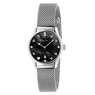 Gucci G-Timeless Ladies' Stainless Steel Mesh Bracelet Watch - Product number 4639618