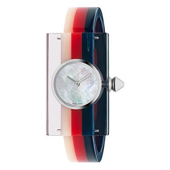 Gucci Vintage Web Ladies' Plexiglass Strap Watch - Product number 4639650