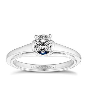 Vera Wang 18ct White Gold 0.45ct Solitaire Engagement Ring - Product number 4646282