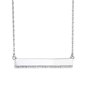 Sterling Silver Diamond Bar Necklace - Product number 4648781