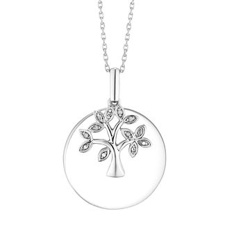 Tree of Life Designs Sterling Silver Disc Pendant - Product number 4648854