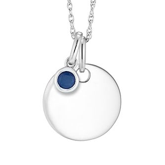 Silver Sapphire Disc Pendant - Product number 4657950