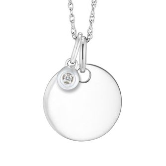 Silver Diamond Disc Pendant - Product number 4657969
