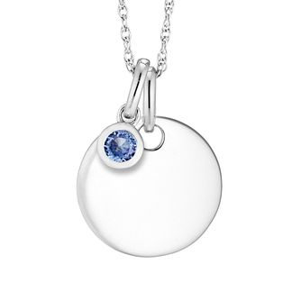 Silver Tanzanite Disc Pendant - Product number 4658027