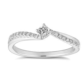 18ct White Gold 0.20ct Diamond Solitaire Ring - Product number 4658728