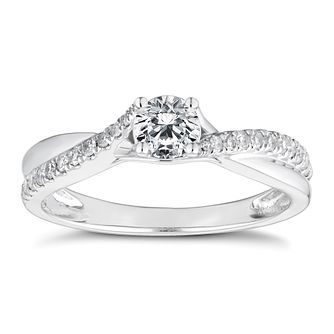 Platinum 1/2ct Diamond Solitaire Ring - Product number 4660021