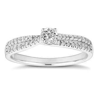 18ct White Gold 1/3ct Diamond Solitaire Ring - Product number 4660153