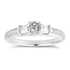 18ct White Gold 1/2ct Diamond Solitaire Ring - Product number 4660706