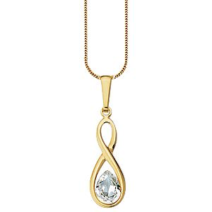 9ct Gold Cubic Zirconia Pendant - Product number 4663896