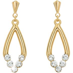 Gold Crystal Drop Earrings - Product number 4668626
