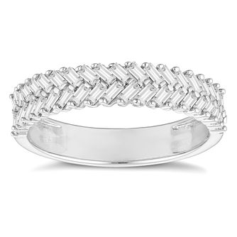 18ct White Gold 0.40ct Baguette Cut Half Eternity Ring - Product number 4675835