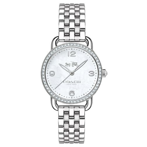 Coach Ladies' Stainless Steel Stone Set Bracelet Watch - Product number 4677552