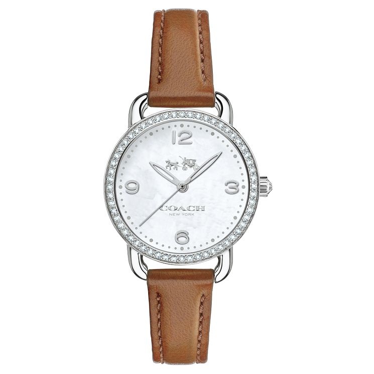Coach Ladies' Stainless Steel Stone Set Strap Watch - Product number 4677595