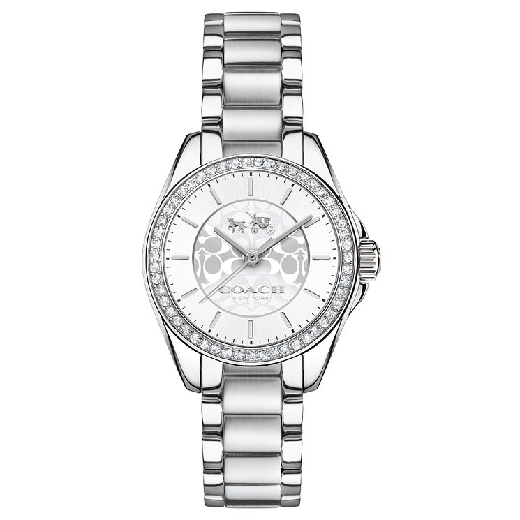 Coach Ladies' Stainless Steel Silver Dial Bracelet Watch - Product number 4677609