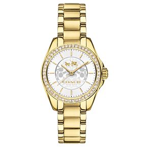 Coach Ladies' Gold tone Silver Dial Bracelet Watch - Product number 4677617