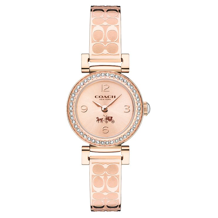 Coach Ladies' Rose Gold tone Bangle Watch - Product number 4678060