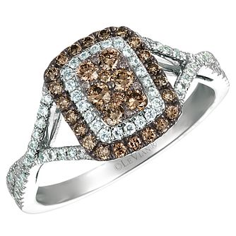 Le Vian 14ct Vanilla Gold Chocolate and Vanilla Diamond Ring - Product number 4684559